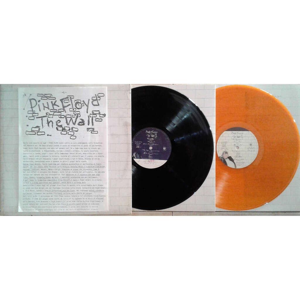Pink Floyd The Wall (Italian 1979 original Ltd promo 2LP BLACK+ORANGE wax no'd gf ps+inners + promo booklet!)