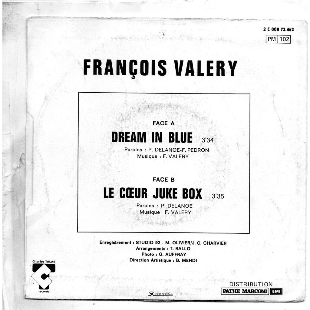 François Valéry & Sophie Marceau Dream In Blue / le coeur juke box