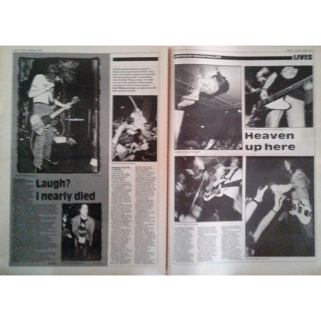 Nirvana / Tad / The Cateran Sounds (04.11.1989) (UK 1989 large format music magazine!)