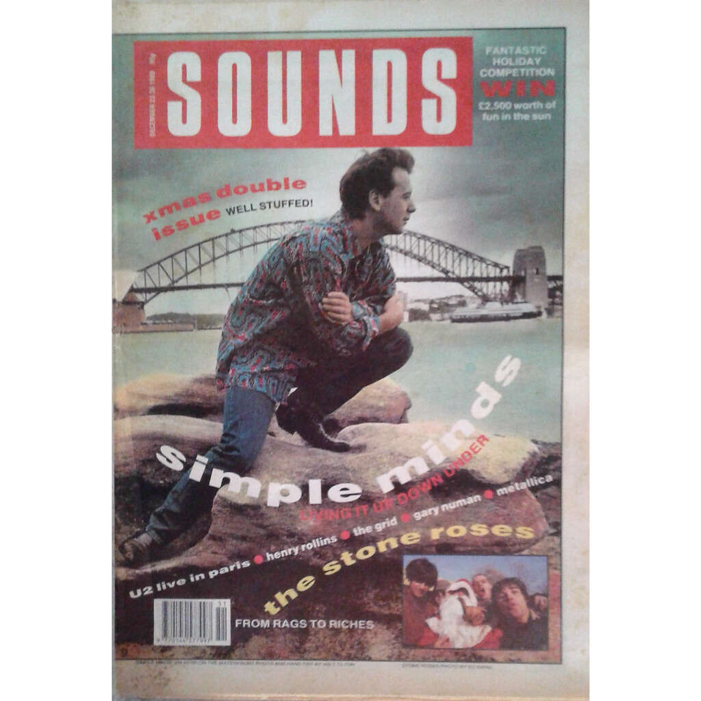 Simple Minds Sounds (23/30.09.1989) (UK 1989 large format Simple Minds front cover magazine!)