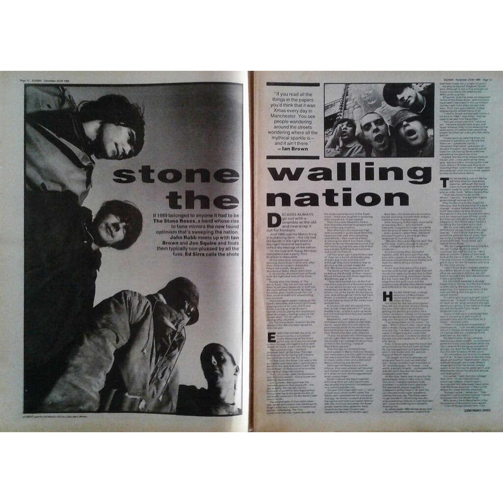 Stone Roses Sounds (23/30.09.1989) (UK 1989 large format music magazine!!)