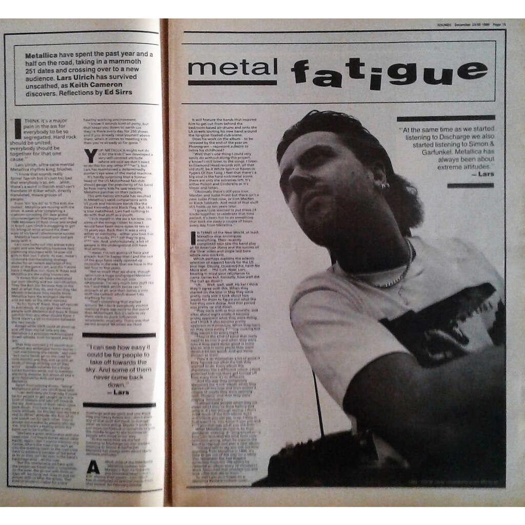 Metallica Sounds (23/30.09.1989) ( UK 1989 large format music magazine!)