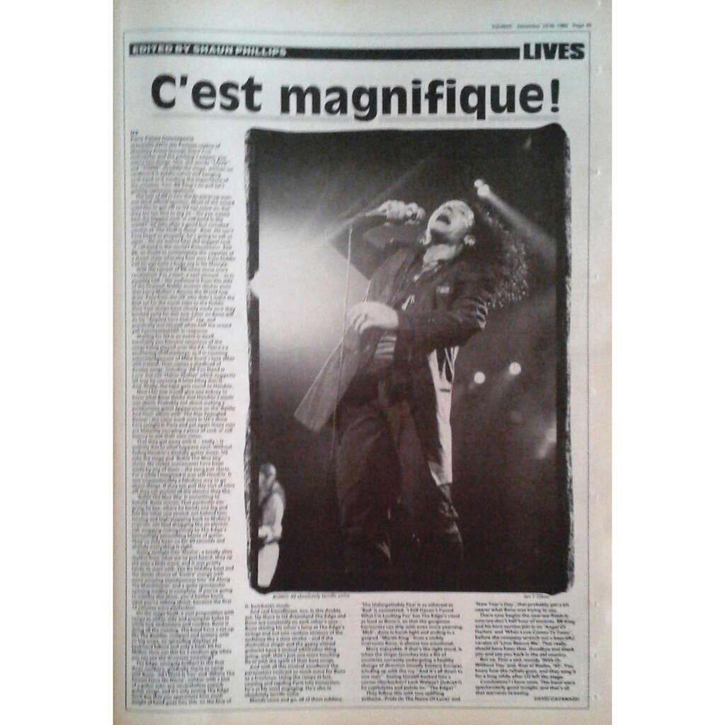 U2 Sounds (23/30.09.1989) (UK 1989 large format music magazine!)