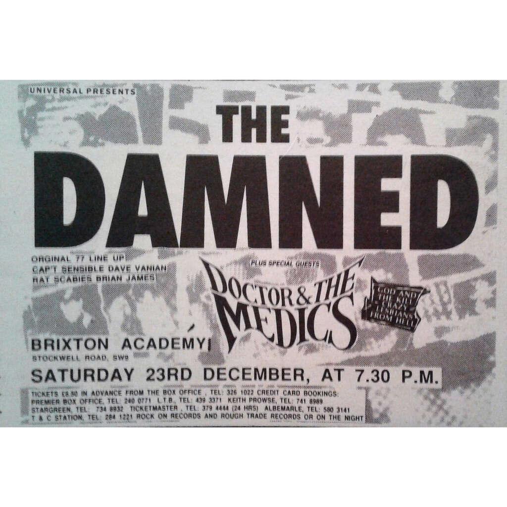 Damned Brixton Academy 23.12.1989 (UK 1989 promo type advert concert flyer!)