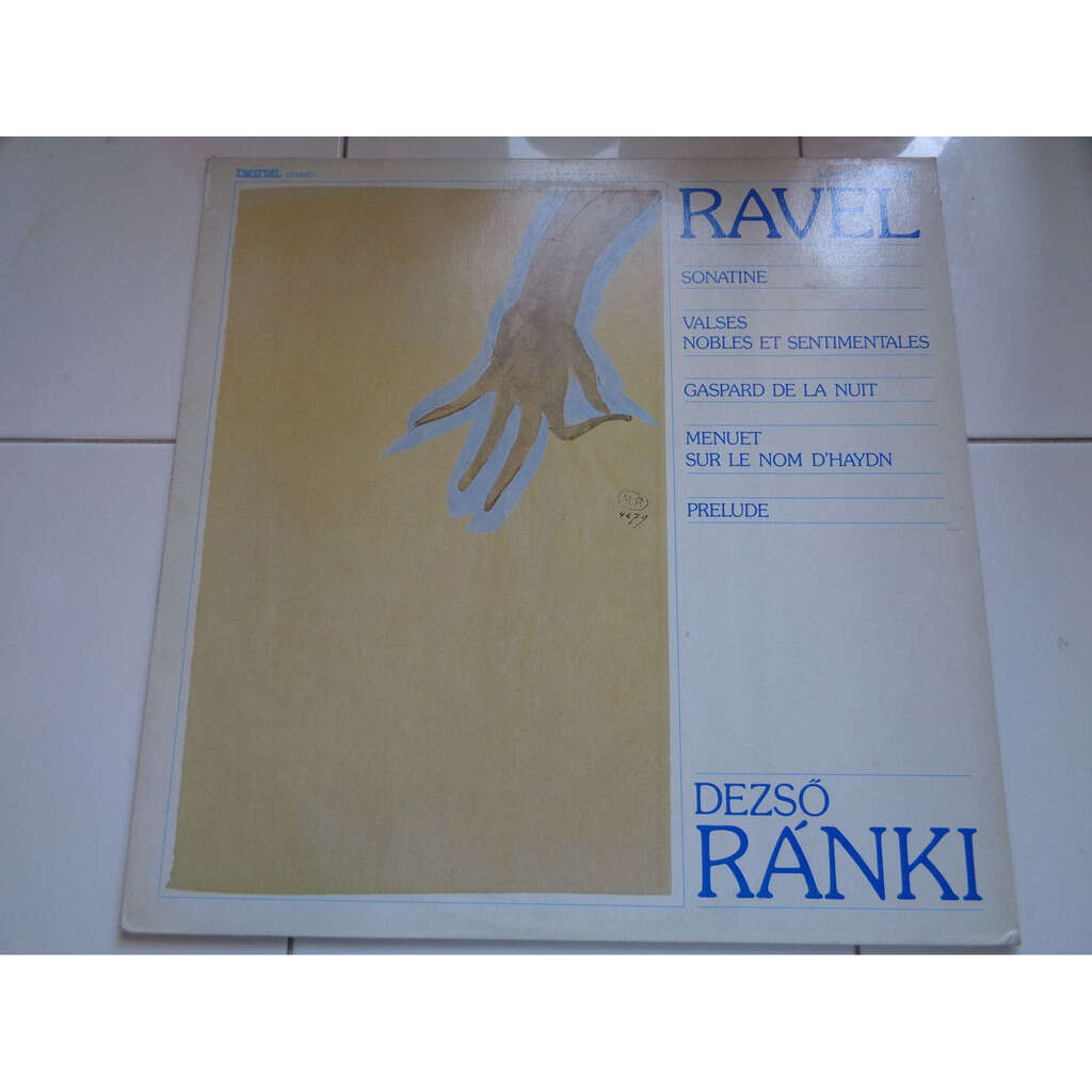 DESZO RANKI RAVEL : piano récital - ( stéréo digital mint condition )