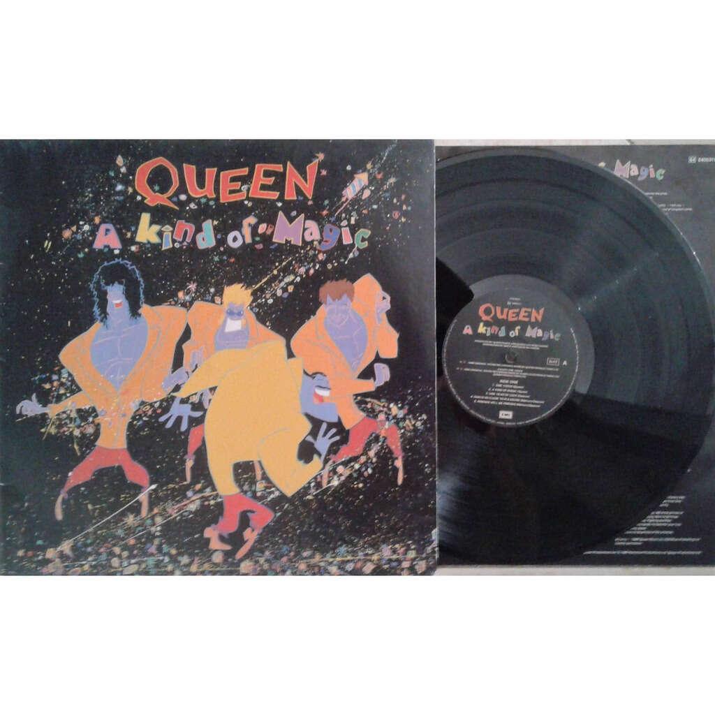The Queen A Kind Of Magic (Italian 1986 original 9-trk LP full gf ps+inner slv)