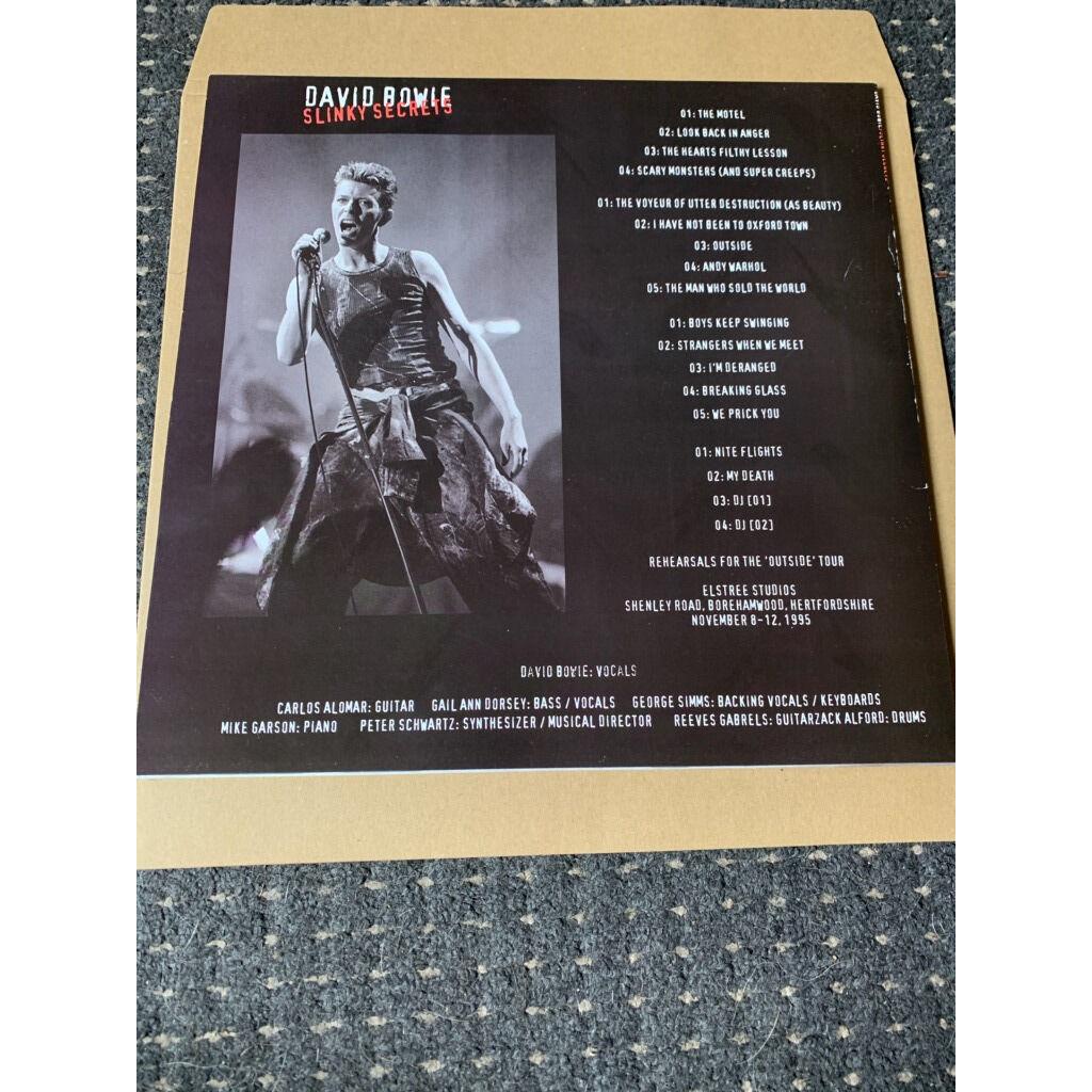 David Bowie Slinky Secrets RED VINYL 2 x LP