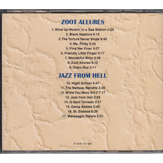 Frank Zappa Zoot Allures / Jazz From Hell