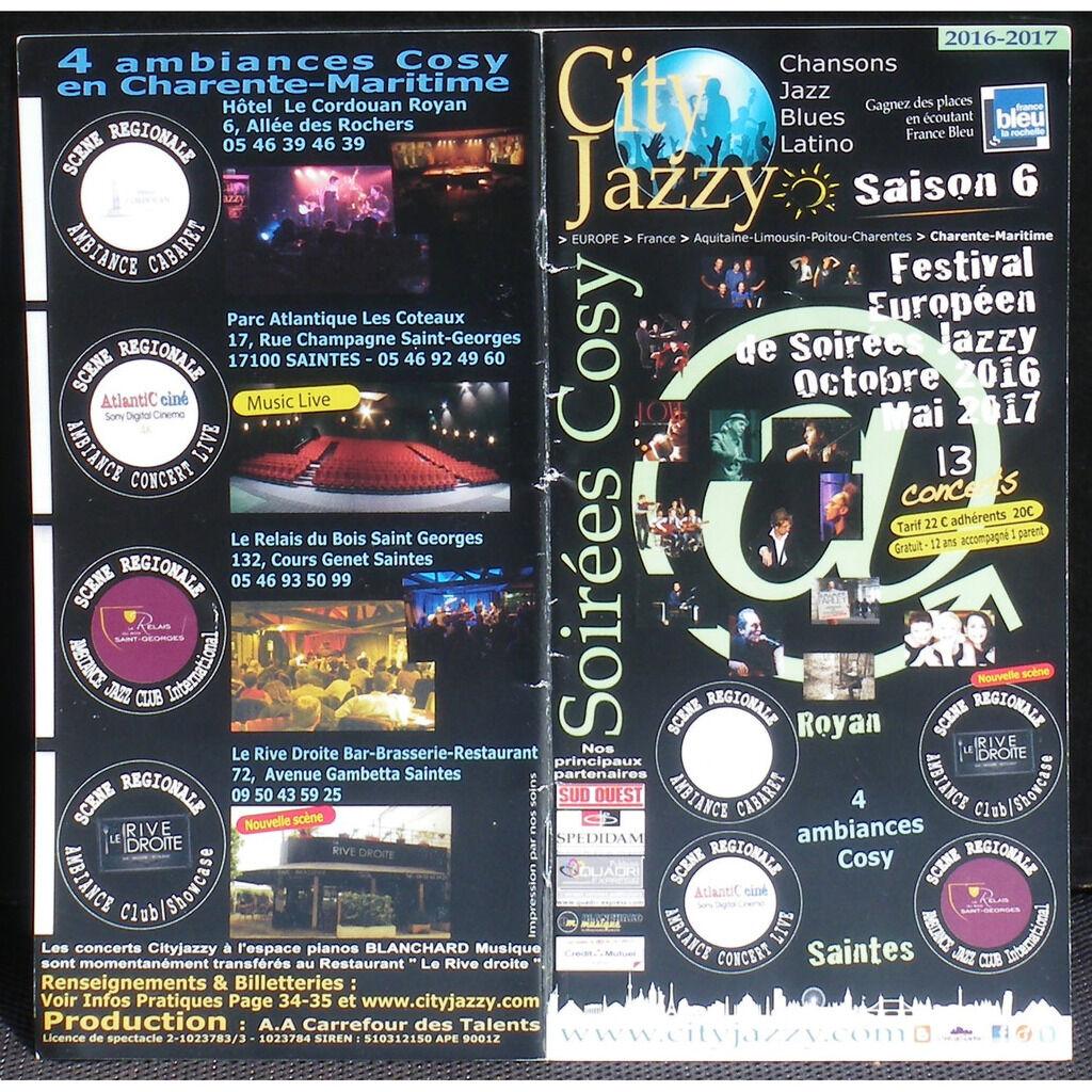 Tom MacClung Matyas Szandai Mourad Benhammou Programme City jazzy 2017 - Dédicaces