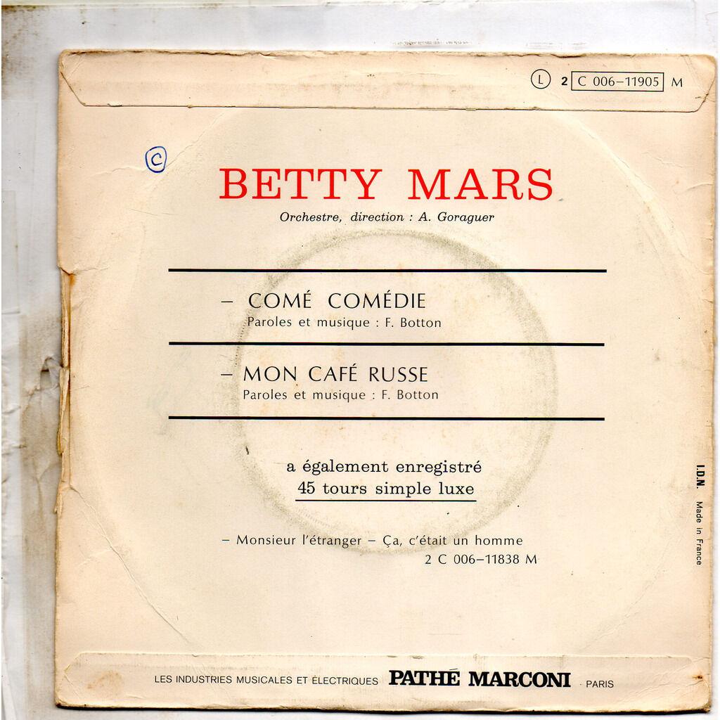 betty mars comé comédie / mon café russe