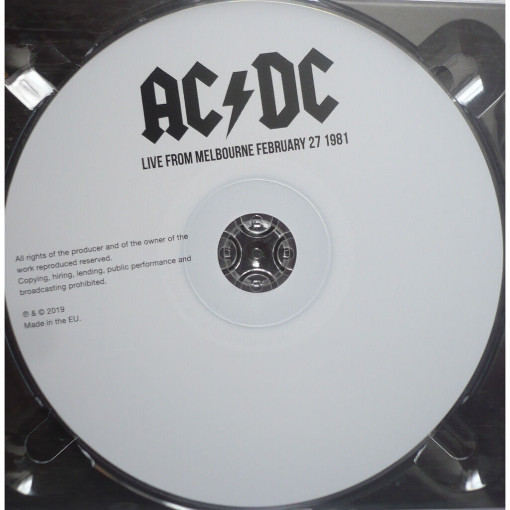 ac/dc LIVE FROM MELBOURNE - FEBRUARY 27, 1981