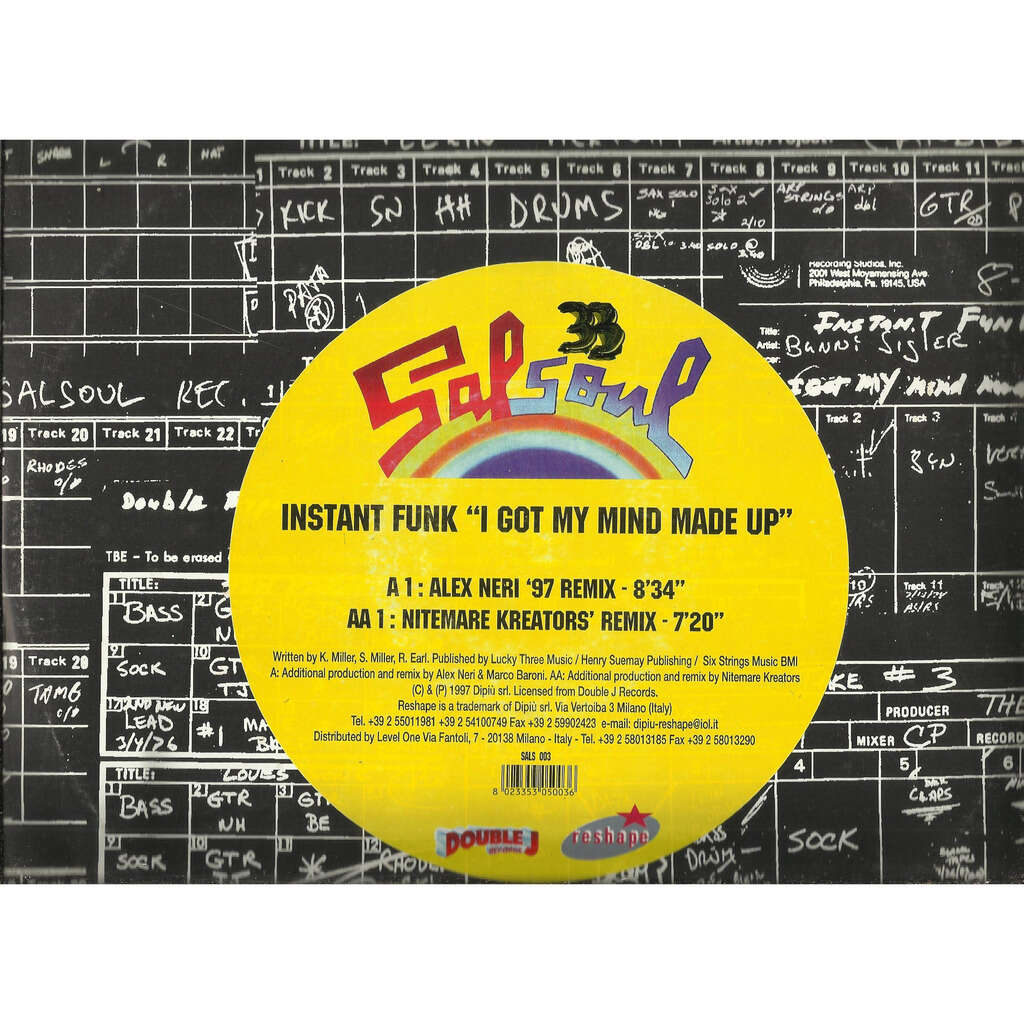 INSTANT FUNK i got my mind made up , alex Neri '97 remix / Nitemare kreators remix