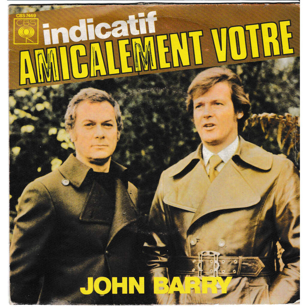 john barry INDICATIF AMICALEMENT VOTRE (THE PERSUADERS) THE GIRL WITH THE SUN IN HER HAIR