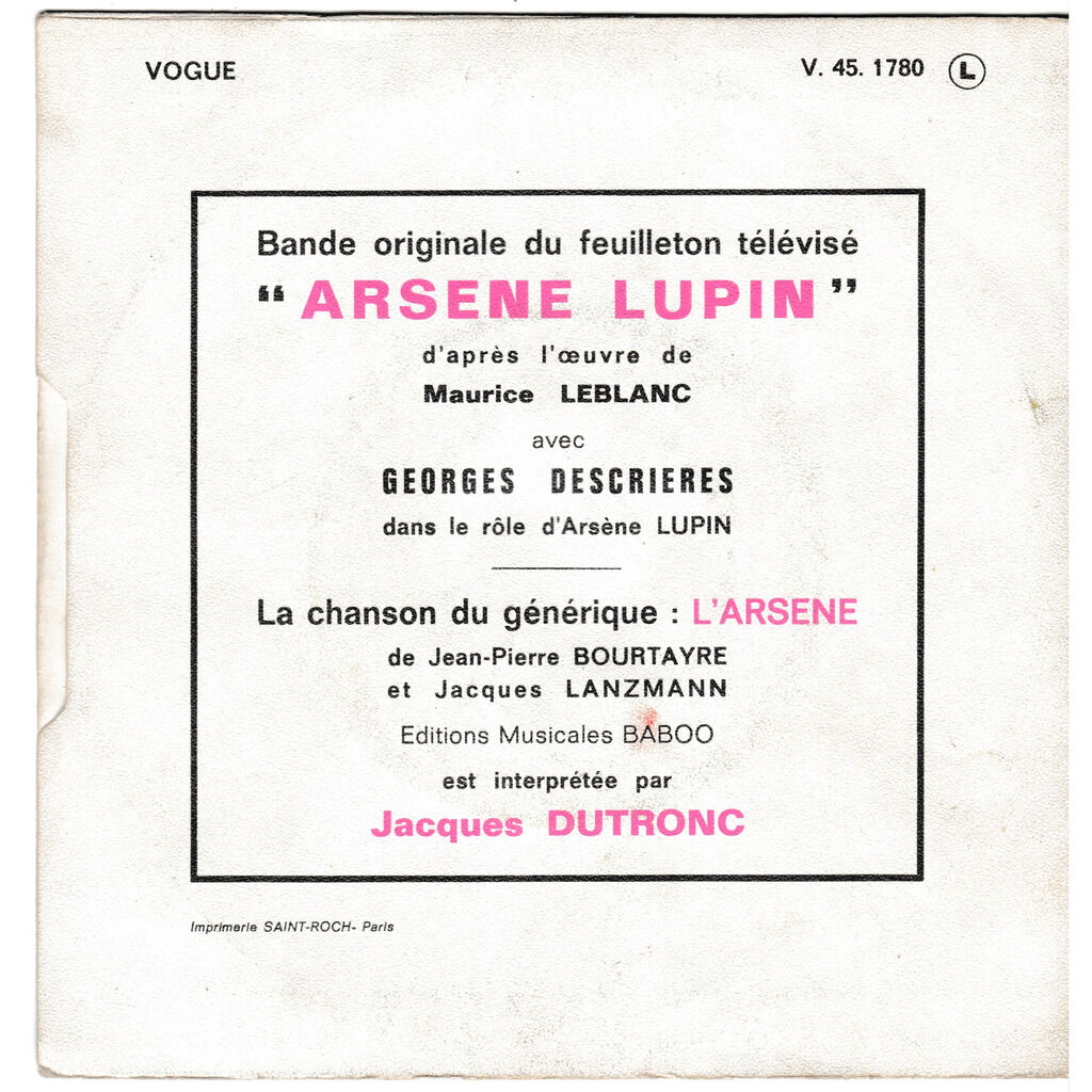 jacques dutronc + GEORGES RAUDY L'ARSENE STERCOK