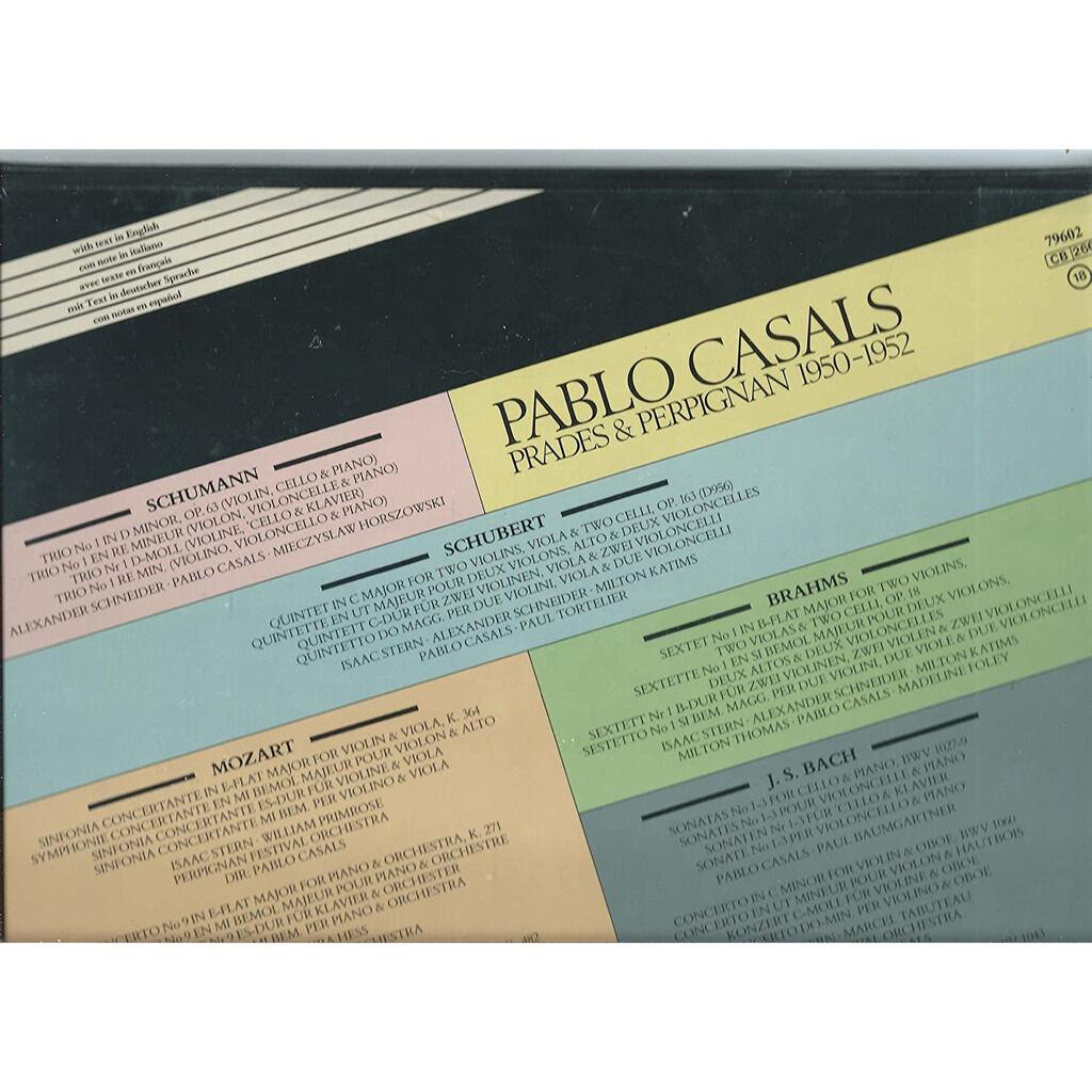 pablo casals Prades & Perpignan 1950-1952 6 LP's Box-Set
