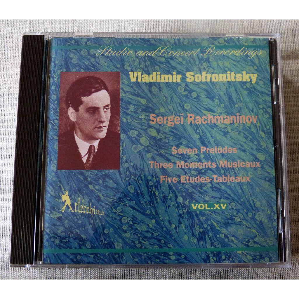 Serge Rachmaninov / Vladimir Sofronitsky Préludes, Moments musicaux, études-tableaux