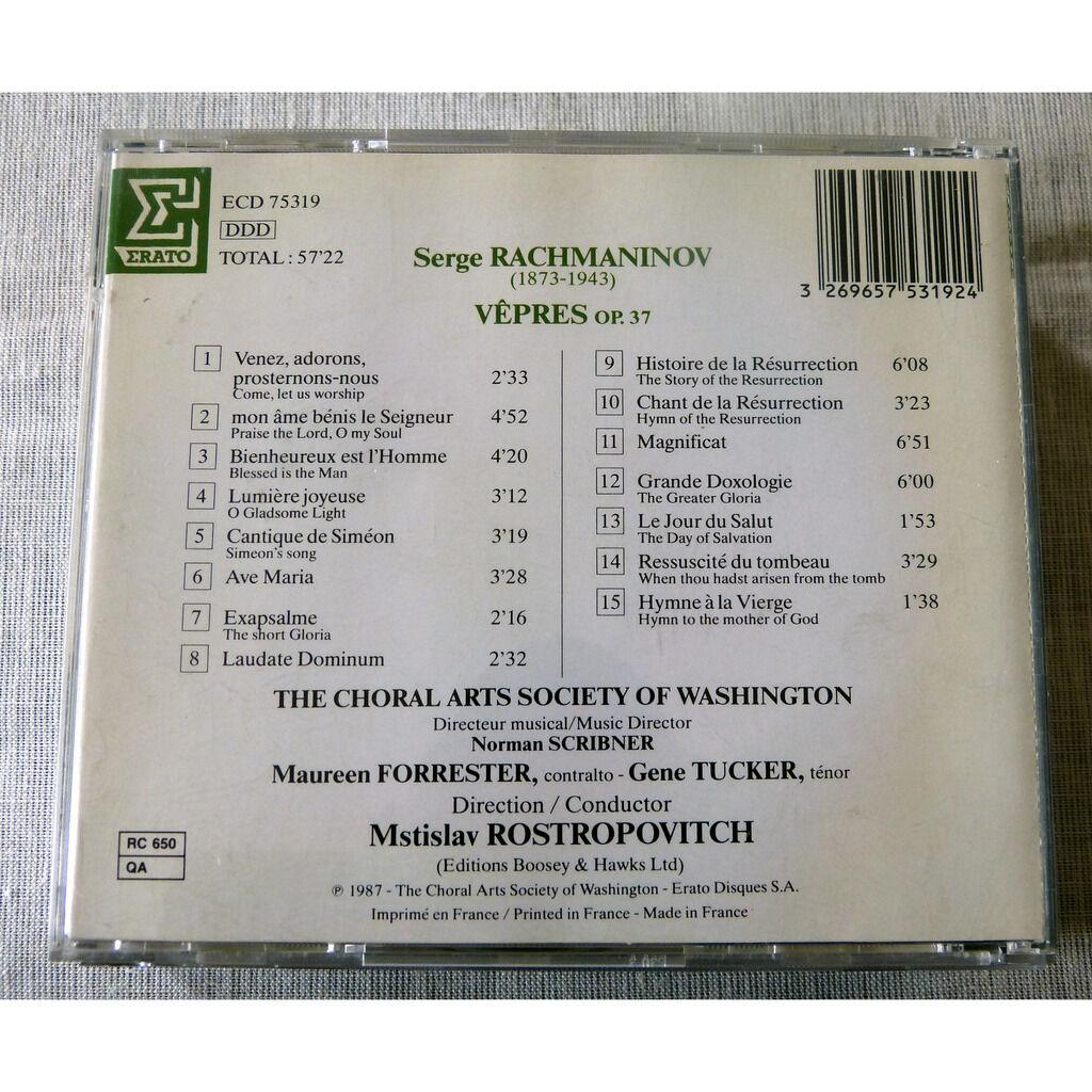 Serge Rachmaninov / Mstislav Rostropovitch Vêpres