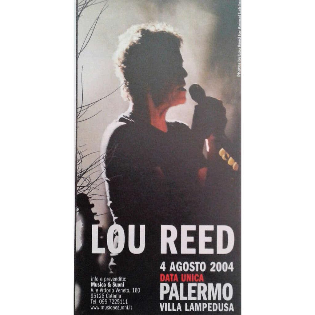 Lou Reed Palermo 04.08.2004 (Italian 2004 promo type advert concert flyer!)