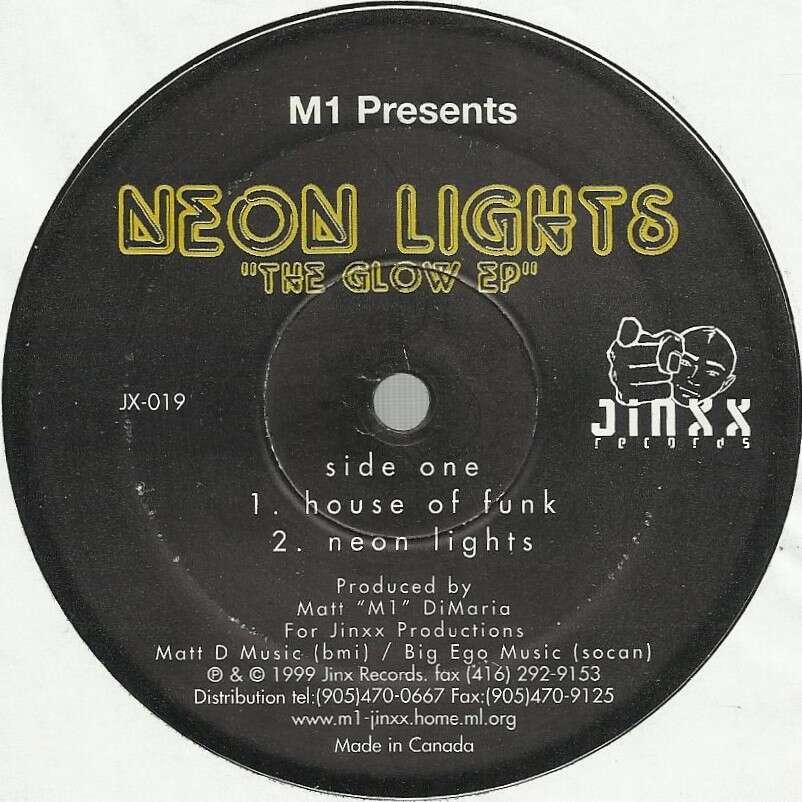 NEON LIGHTS the glow EP - 4 tracks - (house of funk - neon lights - discotronic - saturday night hustle)