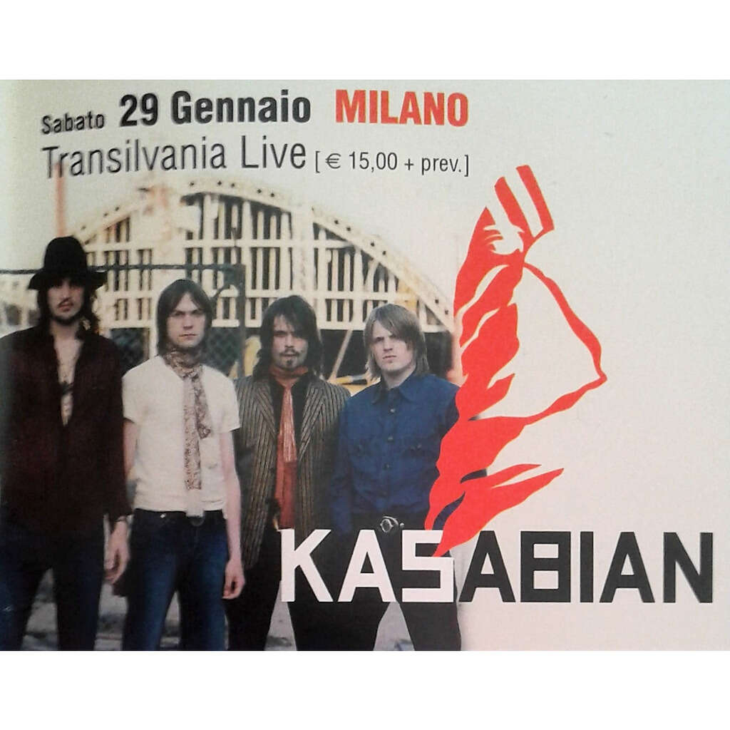 Kasabian Milano 29.01.2005 (Italian 2005 promo type advert concert flyer!!)