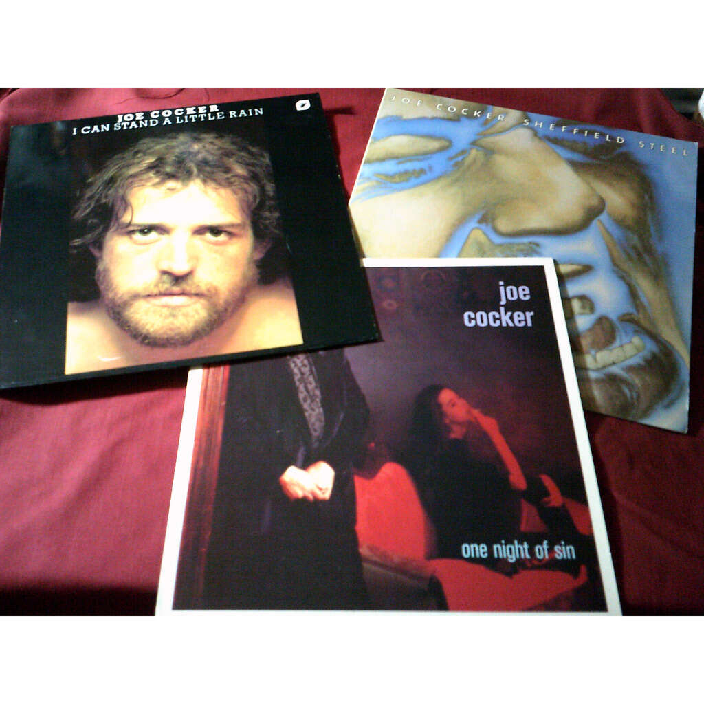 joe cocker COLLECTION DE 8 / 33 TOURS + 1 MAXIS 45 TOURS DIFFERENTS