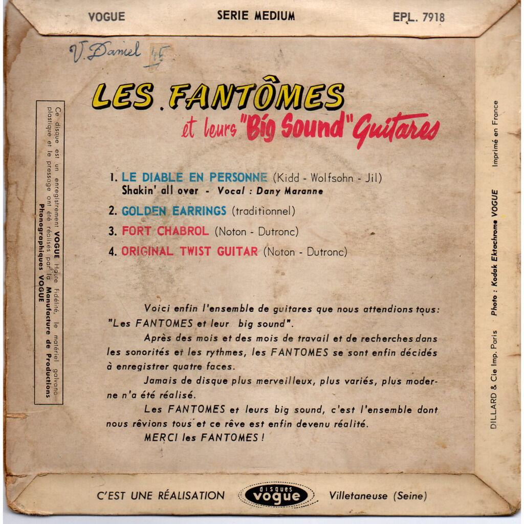 Les fantomes Le diable en personne Shakin' All Over - Golden earrings -Fort Chabrol - Original twist guitar