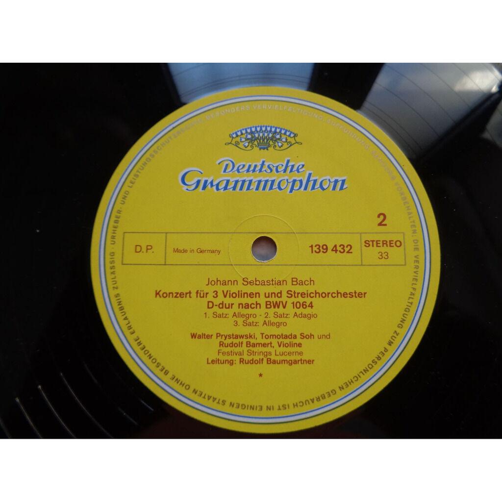 J S Bach ; Heinz Holliger, Karlheinz Zöller 3 Concertos bwv 1055 - 1056 - 1064 - ( stéréo near mint condition )