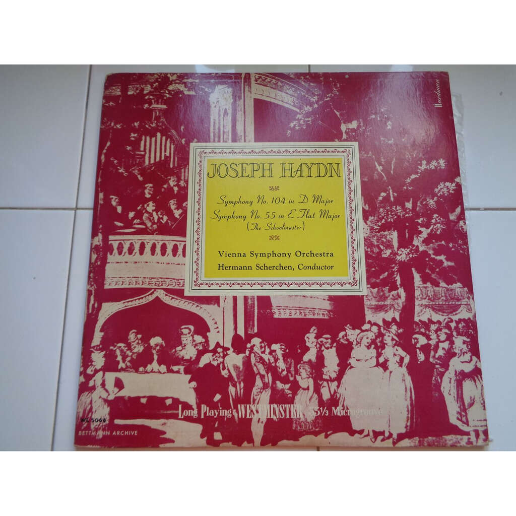 Haydn / Vienna Symphony Orchestra, H. Scherchen Symphony No. 104 in D major*Symphony No. 55 in E flat major