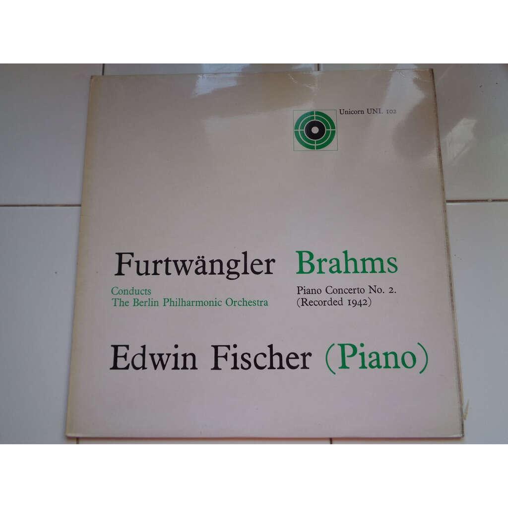 Edwin Fischer - Wilhelm Furtwangler berlin Philhar Brahms : concerto No 2 pour piano ( enregistrement de 1942 ) - ( near mint condition )