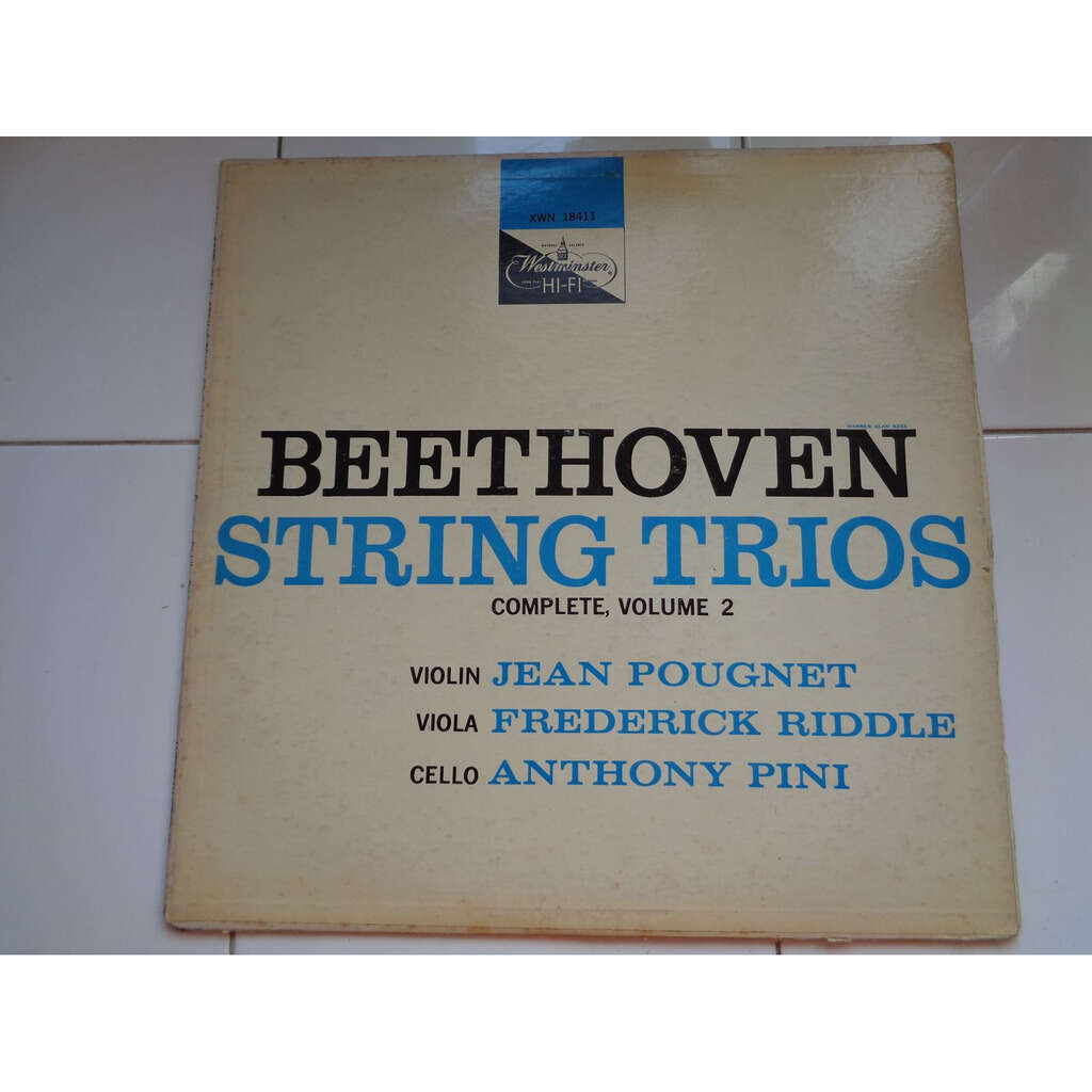 Jean Pougnet / Frederick Riddle / Anthony Pini Beethoven : string trios vol.2 op.9 n° 1 & 2