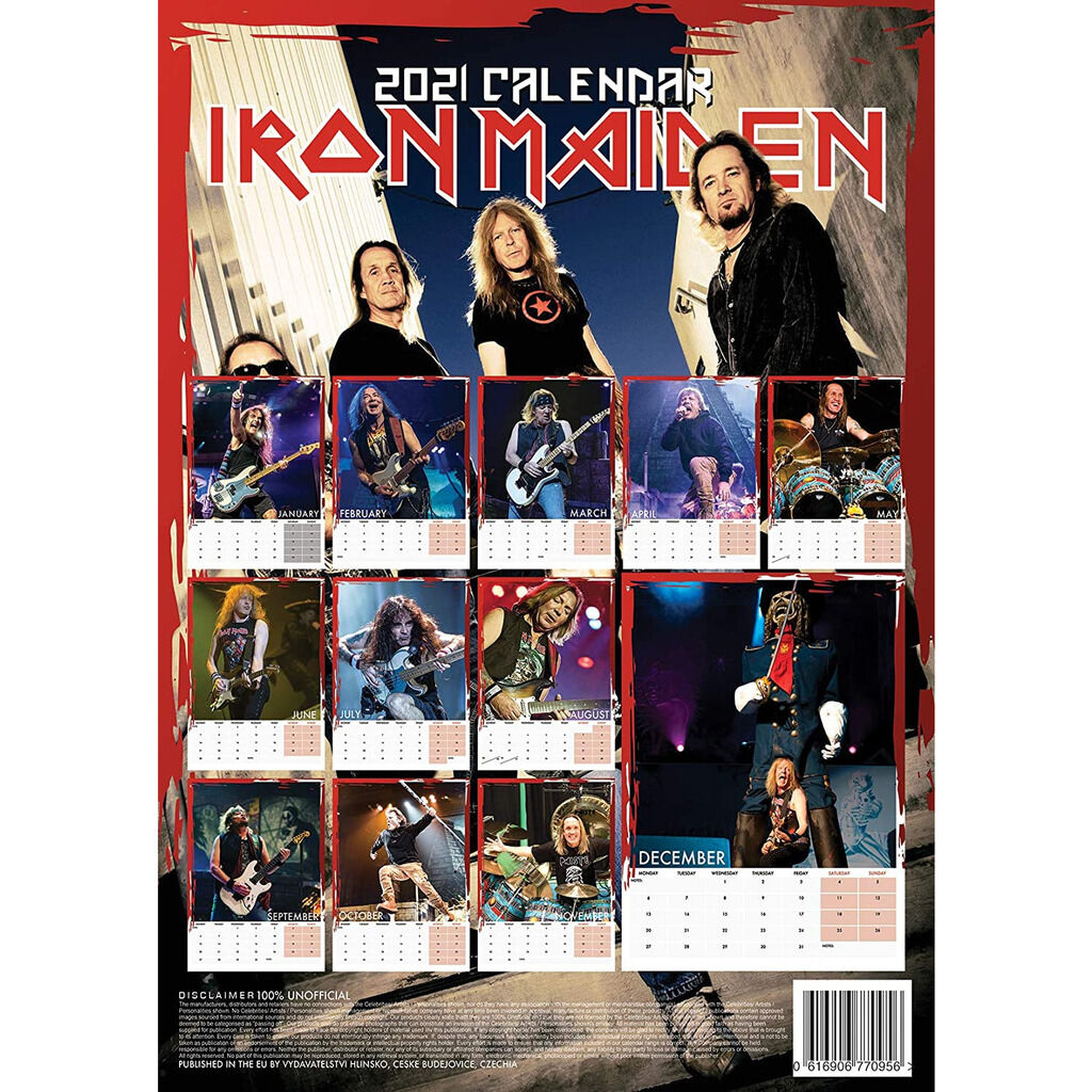 Om Calendrier 2021 IRON MAIDEN calendrier 2021 a3, CALENDAR for sale on