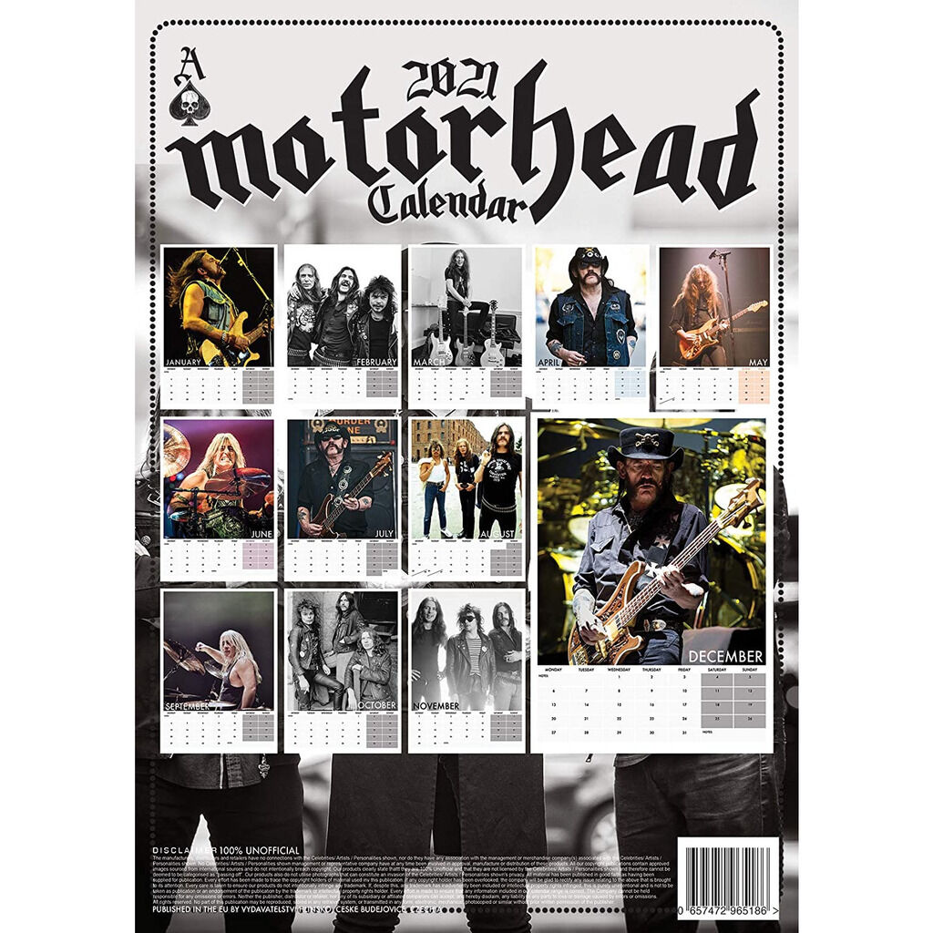Motörhead Calendrier 2021 A3