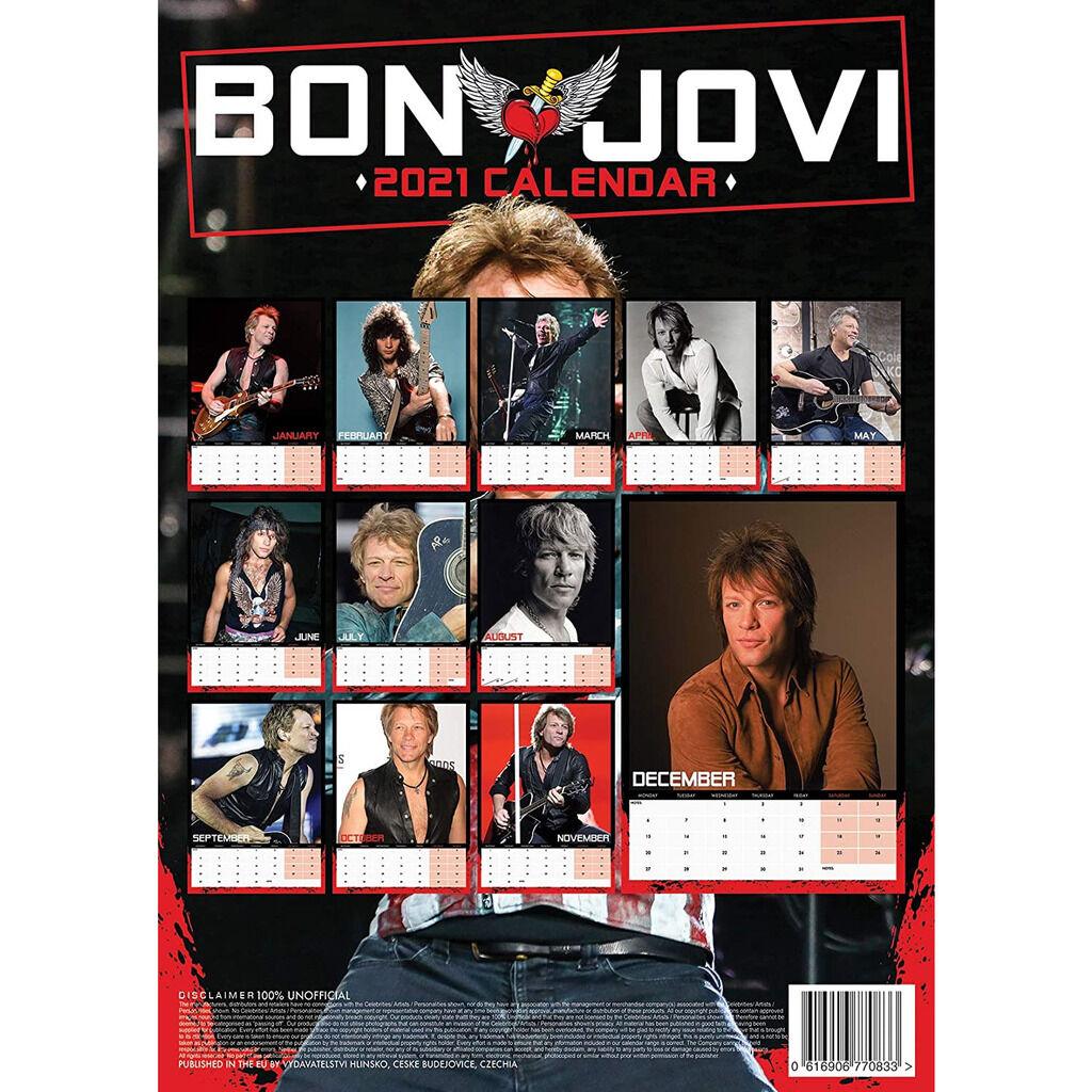 Bon Jovi Calendrier 2021 A3