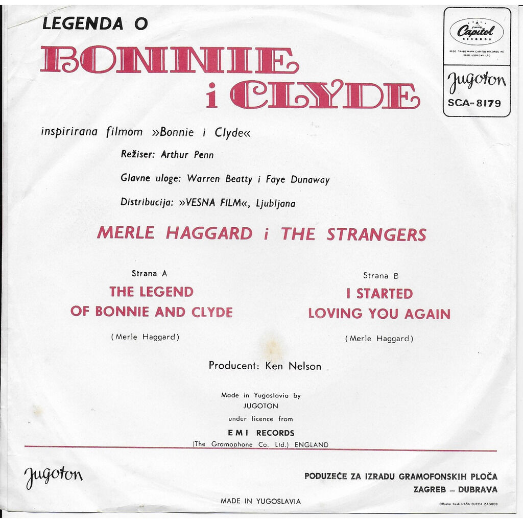 merle haggard and the strangers THE LEGEND OF BONNIE AND CLYDE I STARTED LOVING YOU AGAIN