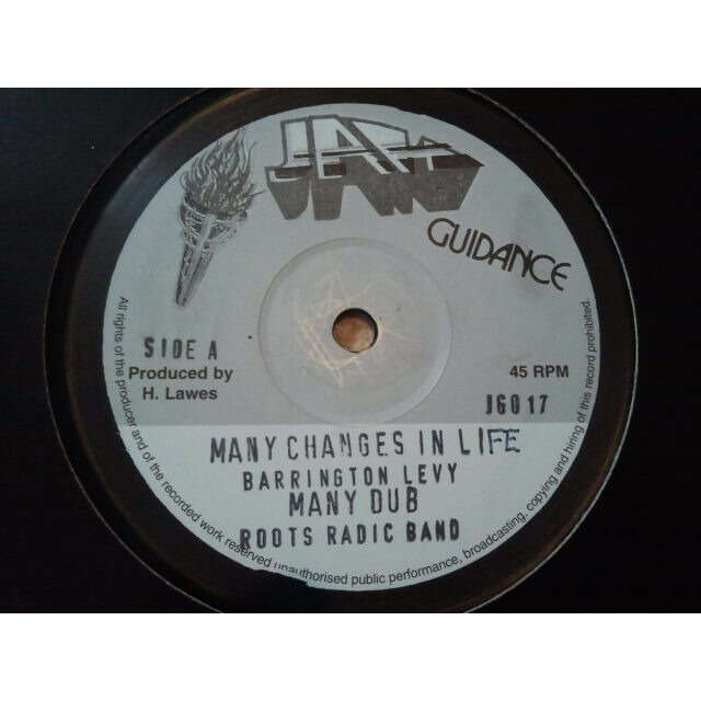 Barrington Levy / Roots Radics Many Changes In Life / Many Dub / Look Youthman / Look Dub