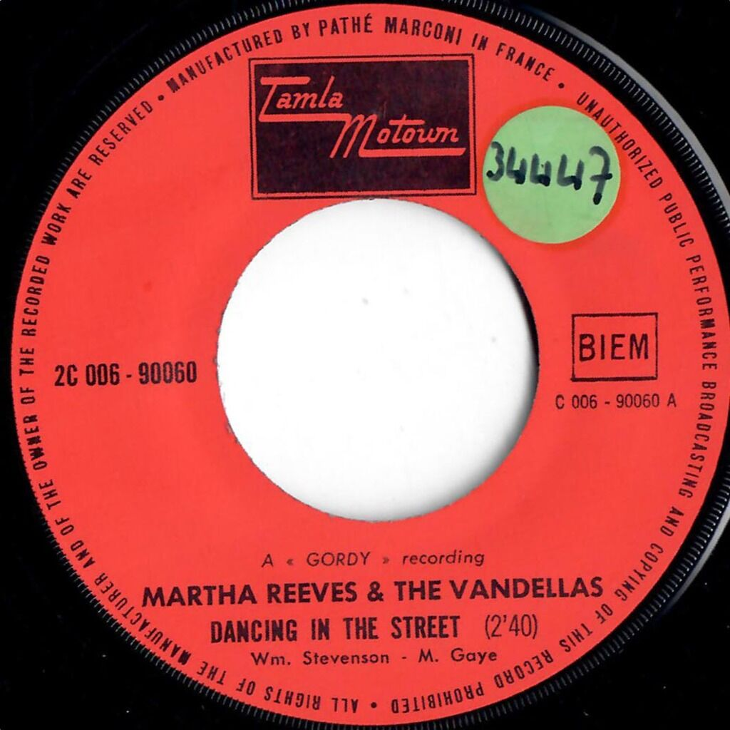 Martha And The Vandellas Dancing In The Street / Live Wire