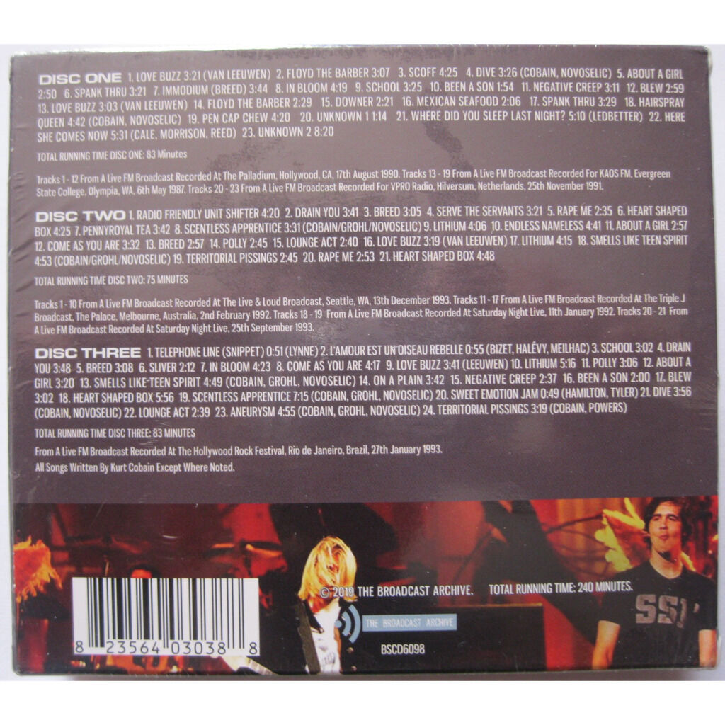 NIRVANA the broadcast archives ( 3cd box - 68 tracks )