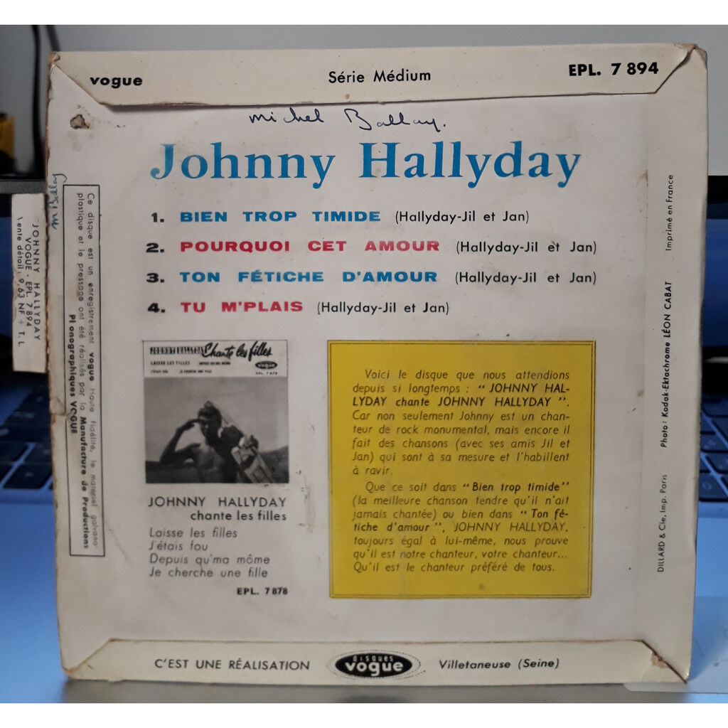 Johnny Hallyday Johnny Hallyday Chante Johnny Hallyday