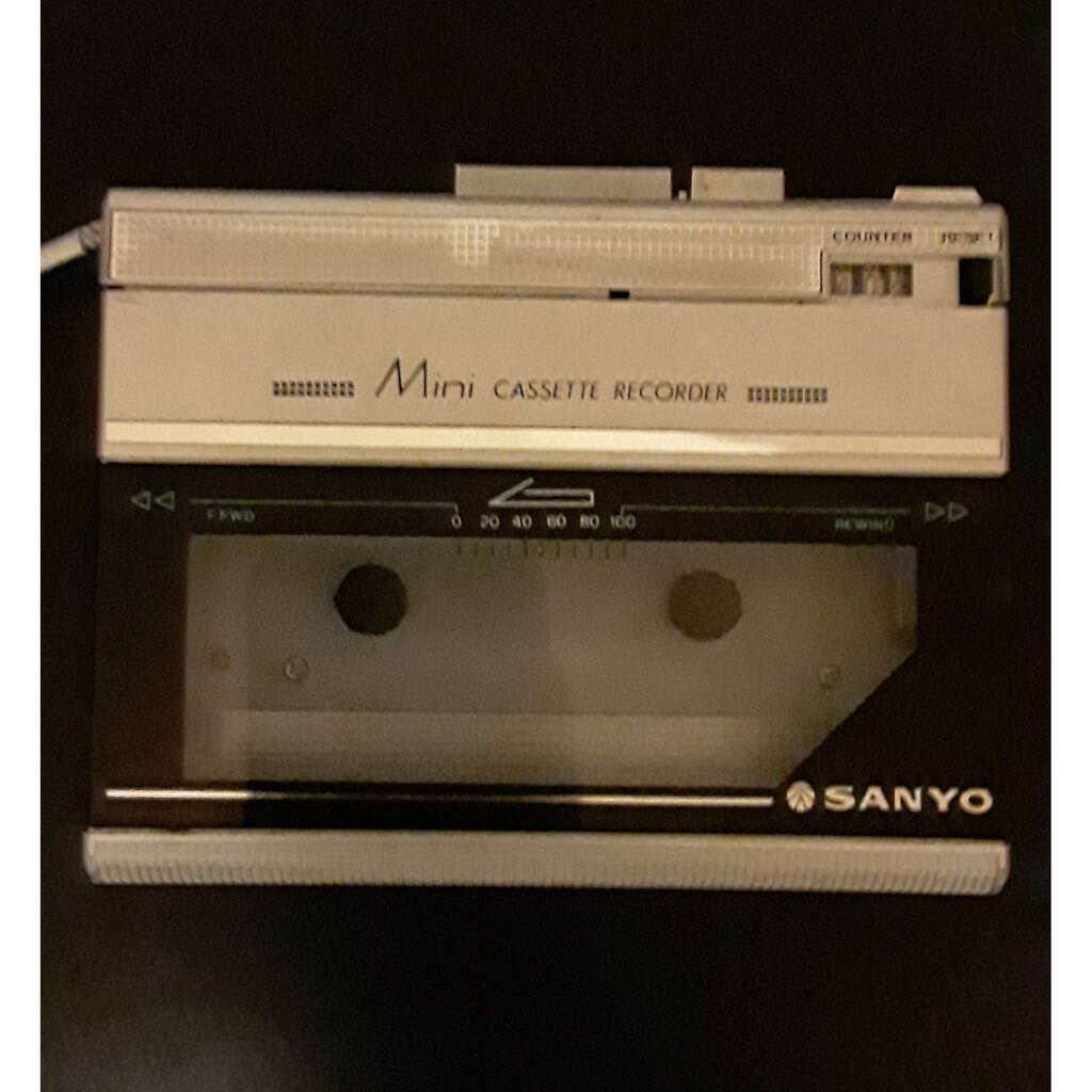 Vintage Cassette Recorder and Player Sanyo M1120