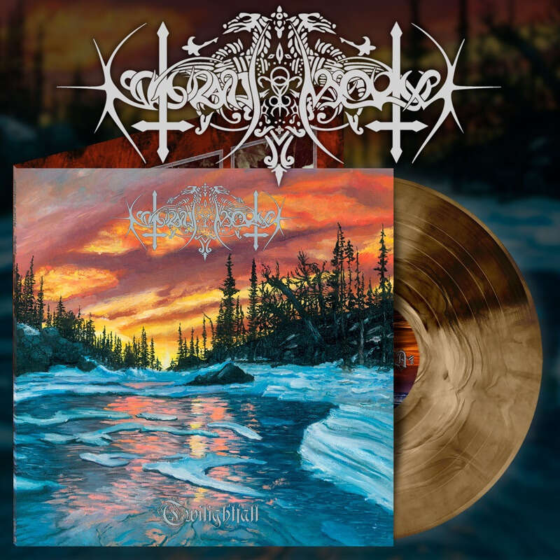 NOKTURNAL MORTUM Twilightfall. Beer Marble Vinyl