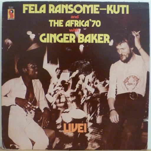 FELA RANSOME KUTI & AFRICA 70 w/ GINGER BAKER Live !