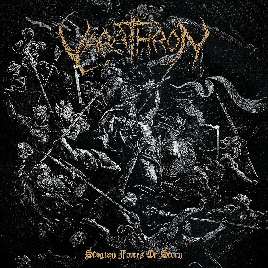 VARATHRON Stygian Forces Of Scorn. Black Vinyl