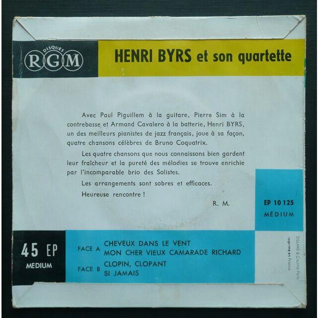 Henri Byrs et son Quartet Interprète Bruno Coquatrix