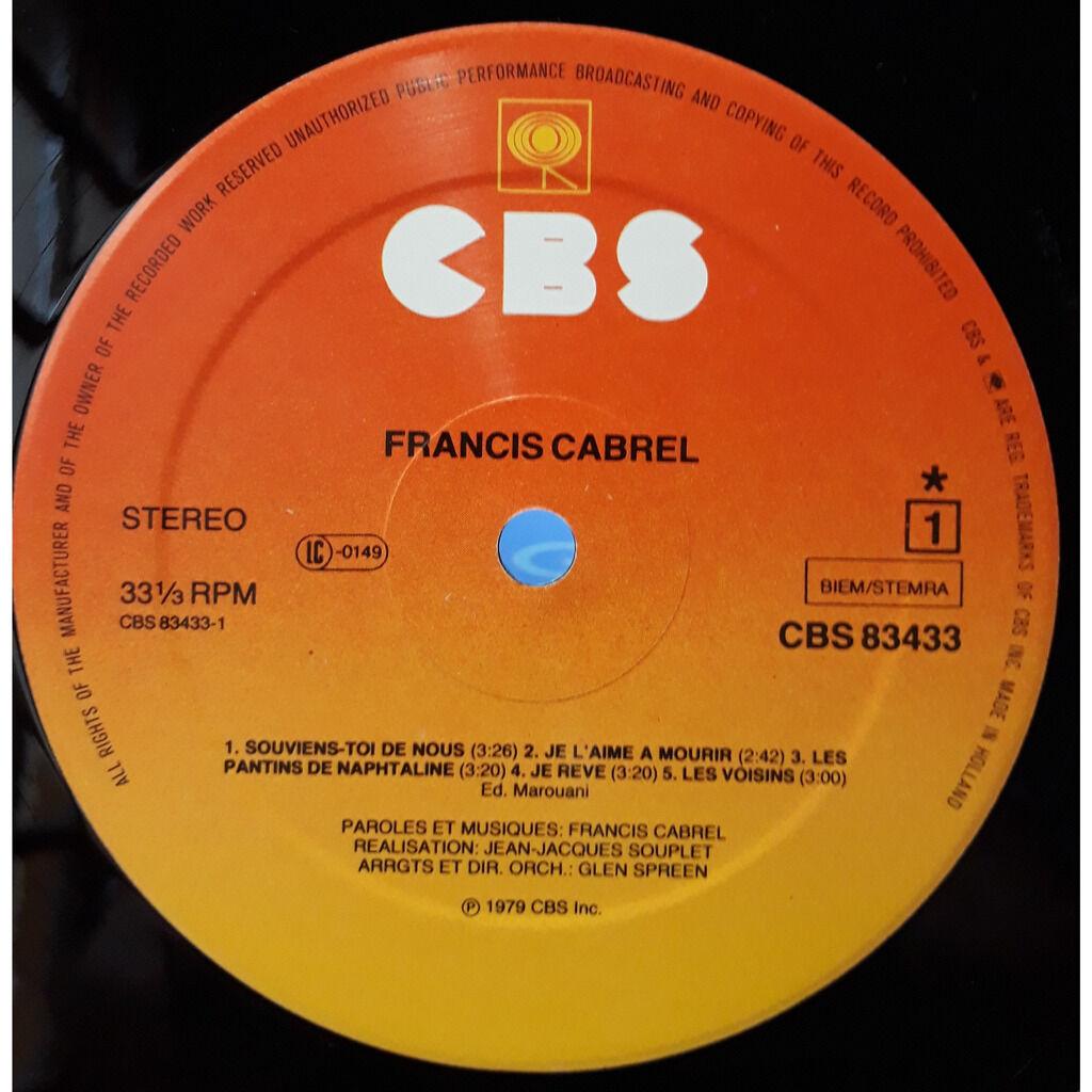 Francis Cabrel Les Chemins De Traverse
