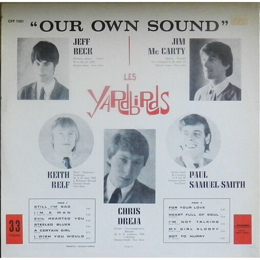 LES YARDBIRDS Our Own Sound
