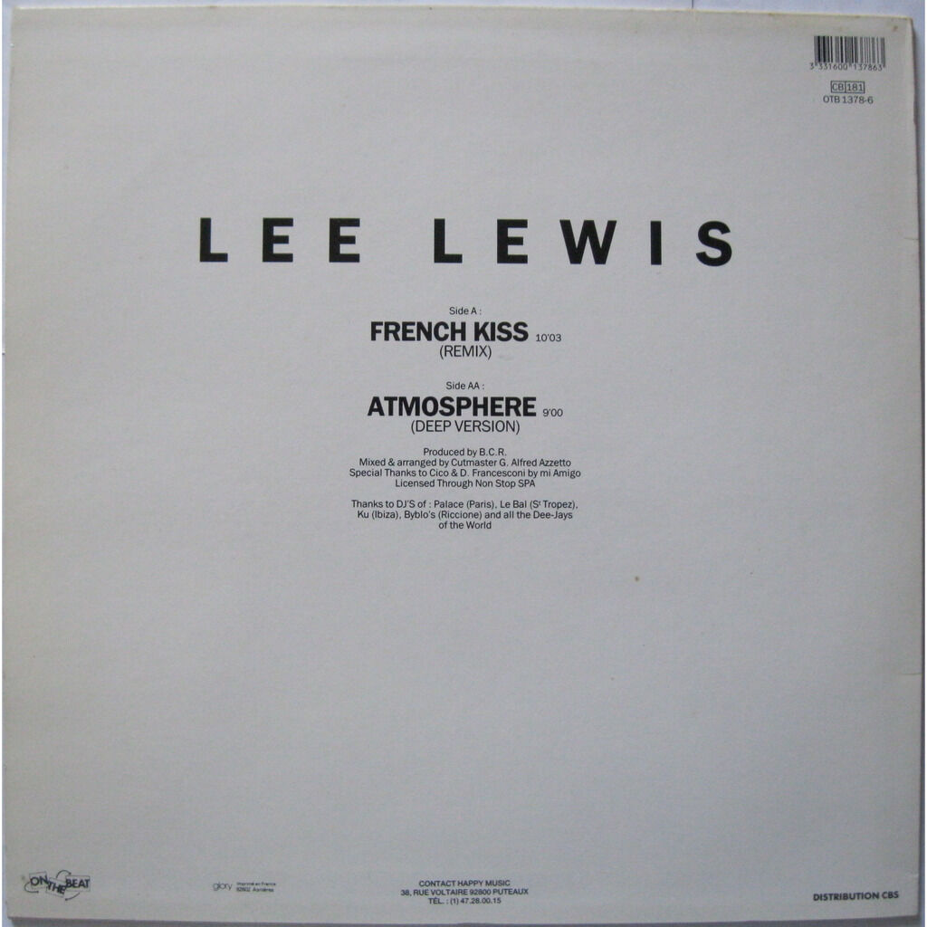 LEE LEWIS French Kiss - The Remix