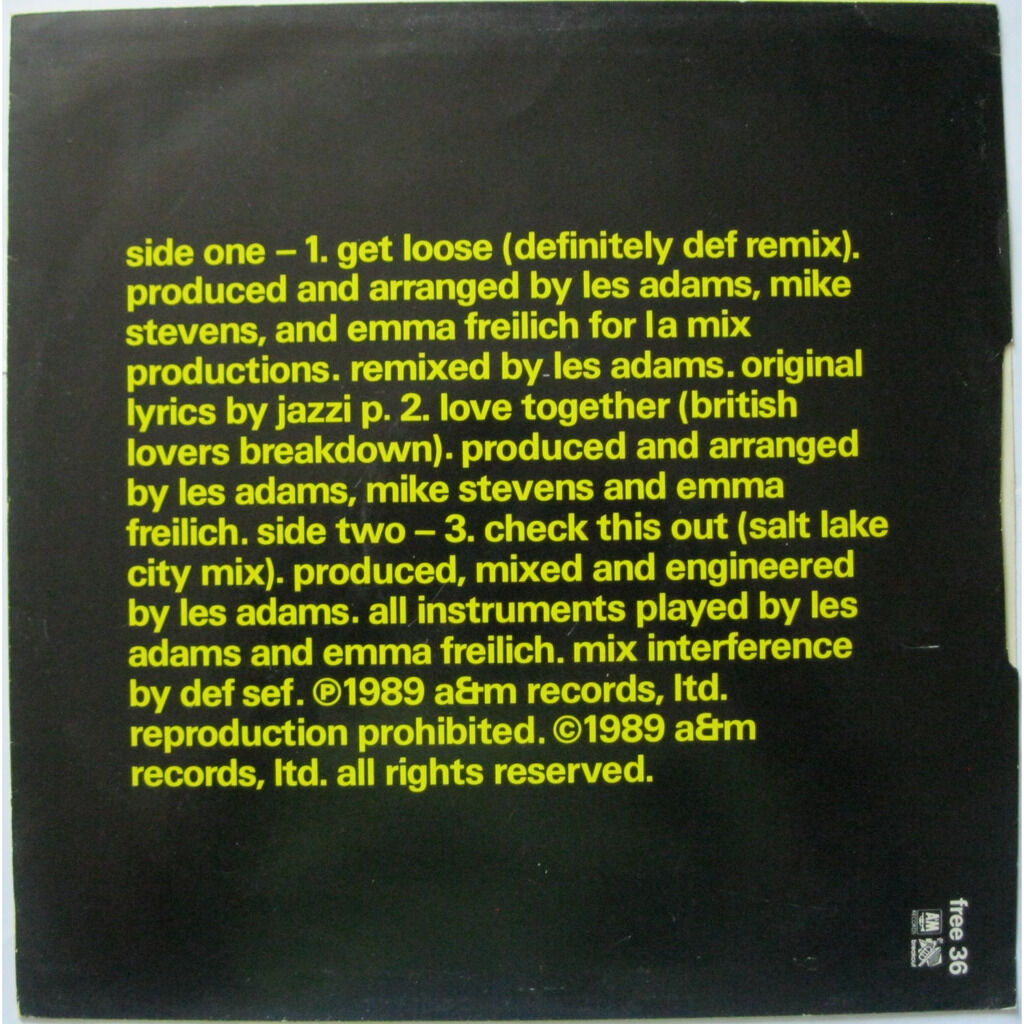 L.A. MIX Remixes on the side ( limited, promo, UK )