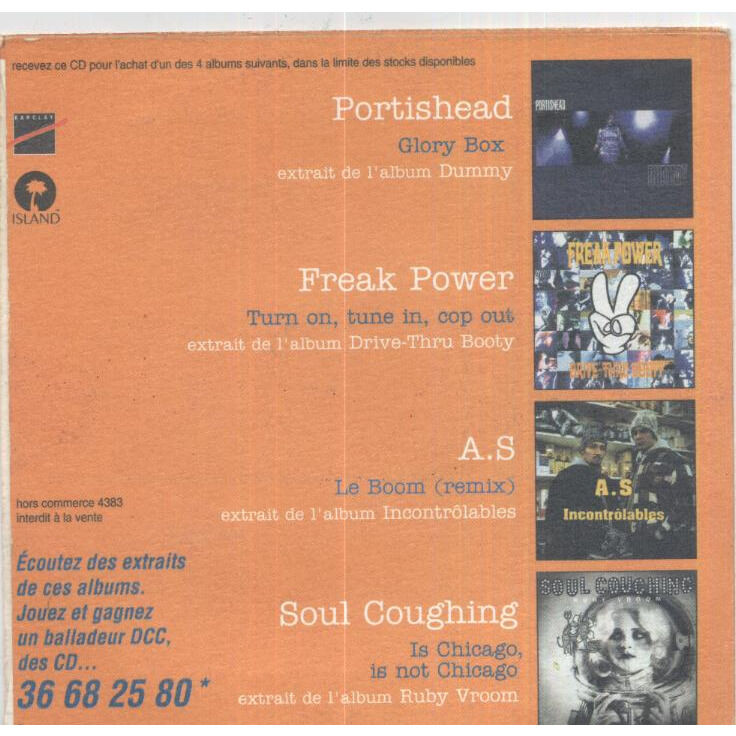 Portishead / Freak Power / A.S / Soul Coughing Glory Box / Turn On, Tune In, Cop Out / Le Boom - Remix /Is Chicago, Is Not Chicago ( Promo )