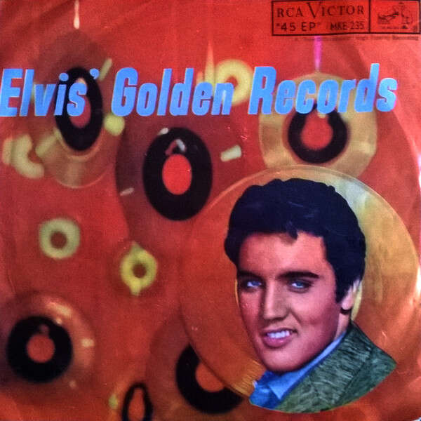elvis presley 001 EP mexico ELVIS GOLDEN RECORDS RCA MKE 235 orange label 1974