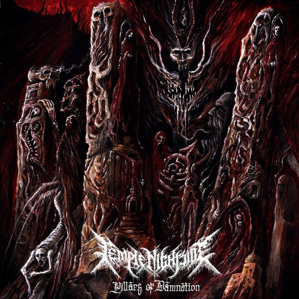 TEMPLE NIGHTSIDE Pillars of Damnation. Black Vinyl